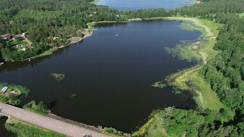 Aerial photo of Kaldersfjärden in Åland.